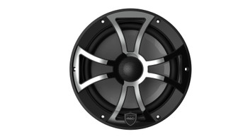Wet Sounds REVO 8-XSB-SS Black XS / Stainless Overlay Grill 8 Inch Marine LED Coaxial Speakers (pair)
