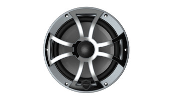 Wet Sounds REVO 8-XSG-SS GunMetal XS/Stainless Overlay Grill 8 Inch Marine LED Coaxial Speakers (pair)