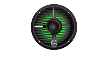Wet Sounds REVO 6-XWB Black Closed XW Grille 6.5 Inch Marine LED Coaxial Speakers (pair)