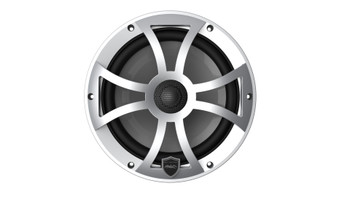 Wet Sounds REVO 8-XSS Silver Open XS Grille 8 Inch Marine LED Coaxial Speakers (pair)