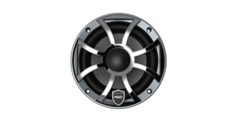 Wet Sounds REVO 6-XSG-SS GunMetal XS/Stainless Overlay Grill 6.5 Inch Marine LED Coaxial Speakers (pair)