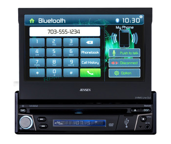 Jensen VX3012 Refurbished A/V Receiver w/ DVD | Bluetooth | USB | AV Input