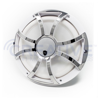 Wet Sounds REVO 10CX XS-W-SS White & Stainless XS Grill 10 Inch Marine High Performance LED Coaxial Speakers (pair)