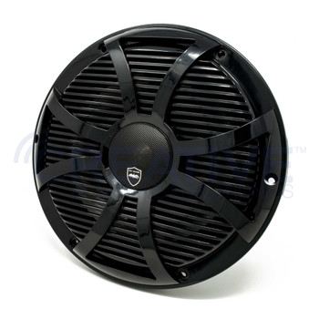 Wet Sounds REVO 10CX SW-B Black SW Grill 10 Inch Marine High Performance LED Coaxial Speakers (pair)