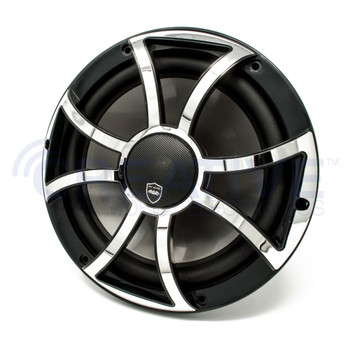 Wet Sounds REVO 10CX XS-B-SS Black & Stainless XS Grill 10 Inch Marine High Performance LED Coaxial Speakers (pair)