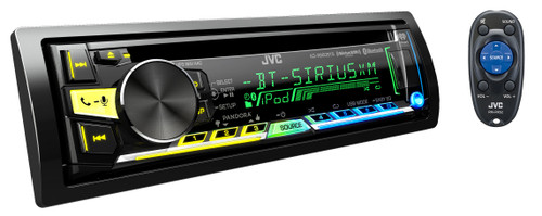 JVC Refurbished KD-R960BTS CD Receiver with Bluetooth Wireless Technology and Front USB/AUX