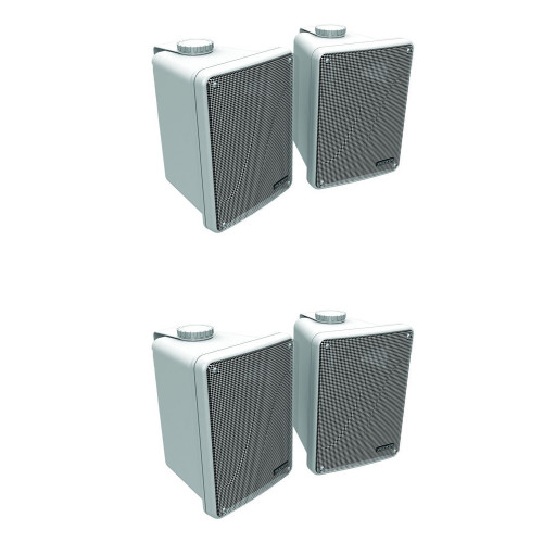 Kicker 11KB6000W White Outdoor Speaker Bundle - 4 Speakers