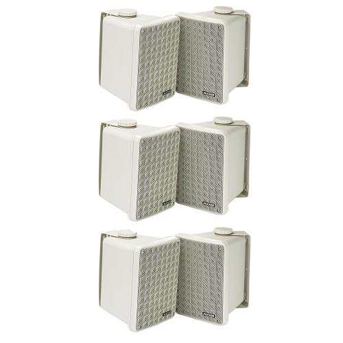Kicker 11KB6000W White Outdoor Speaker Bundle - 6 Speakers