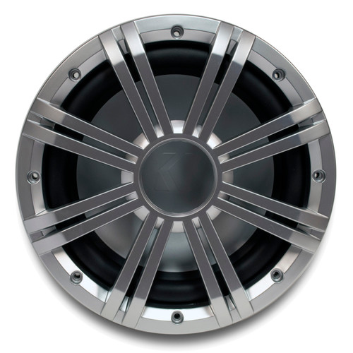 """Kicker 10"""" 2-ohm Marine Free Air Subwoofer with included Silver Grille."""