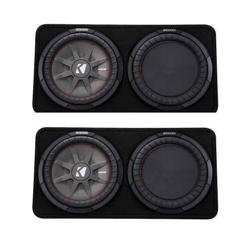 Kicker 43TCWRT122 CompRT12 12-inch (30cm) Subwoofer in Thin Profile Enclosure, 2-Ohm Bundle