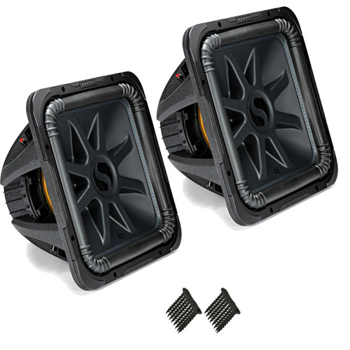 "Kicker 44L7S152 Solobaric L7 15"" Subwoofers Bundle - Dual 2-Ohm Voice Coils for wiring to a 2-ohm monoblock amplifier"