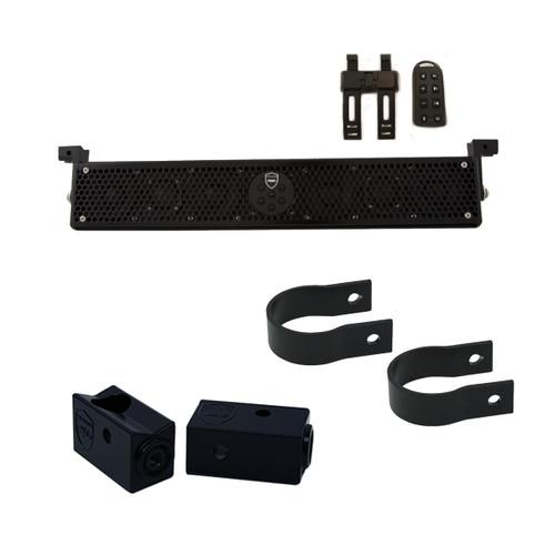 """Wet Sounds Stealth 6 Ultra HD Black + UTV Mounting Kit, Slider bracket & Round 1.75"""" Tube clamp"""