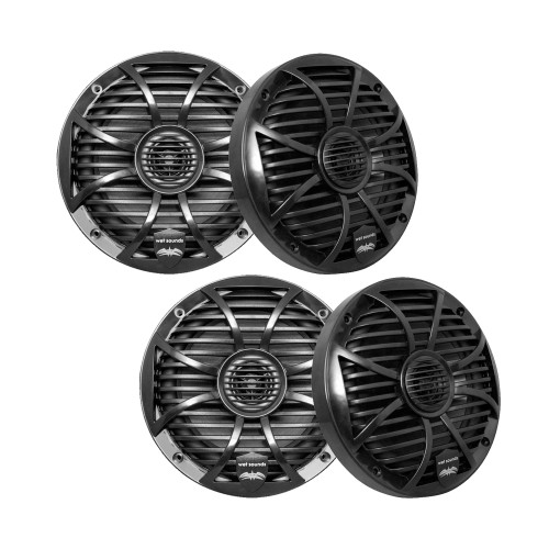 """Wet Sounds Bundle: Two pairs of SW-65ic Series Black Grill 6.5"""" Speakers. 60 Watts RMS Each"""