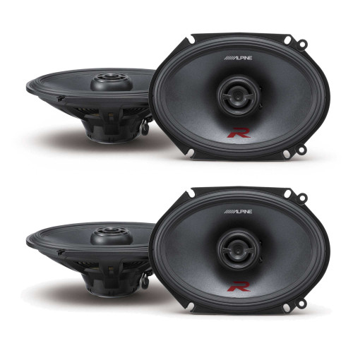 Alpine R-S68 Bundle - Two pairs of Alpine R-S68 6x8 / 5x7 Inch Coaxial 2-Way Speakers