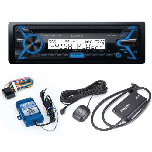 Sony MEX-M100BT Marine CD Receiver with Bluetooth and Sirius XM tuner and Handle Bar Control Interface bundle