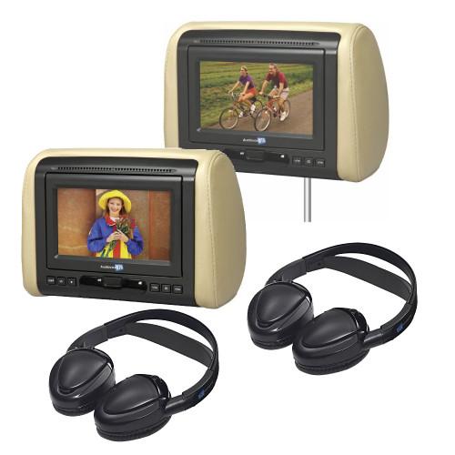 "Audiovox 7"" Dual Mobile Video Headrest System"
