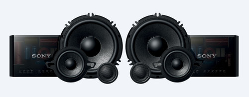 Sony XS-GS1631C 6-1/2 (16 cm) GS 3-Way Component Speakers (Pair)