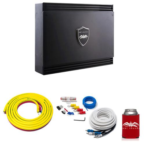 Wet Sounds Sinister SDX2 2-Channel Amplifier & Stinger 3-Meter 4-Gauge Amplifier Wiring Kit w/ RCAs