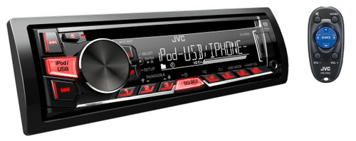 JVC Refurbished KD-R660 Single DIN In-Dash CD/AM/FM Receiver w/ Android & iPhone Integration