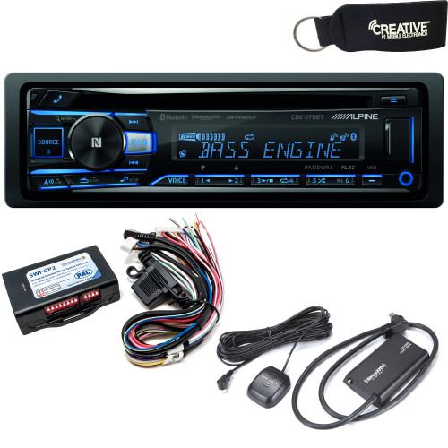 Alpine CDE-175BT CD Receiver with NFC & Bluetooth®  - Includes Steering Wheel Interface & SiriusXM Satellite Tuner