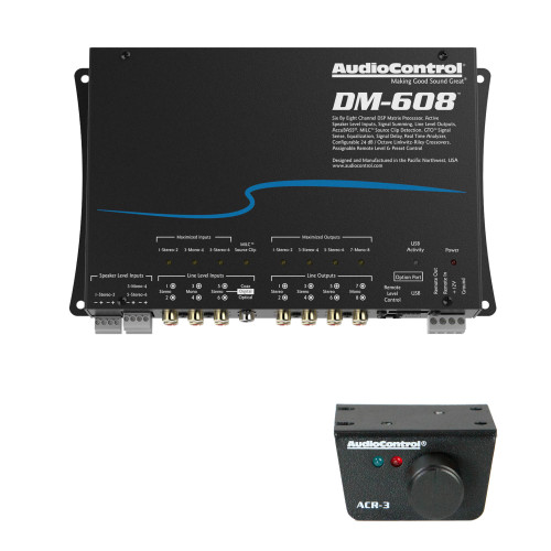 AudioControl DM-608 Premium 6 Input 8 Output DSP Matrix Processor, & ACR-3 Dash Remote