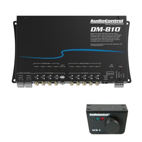AudioControl DM-810 Premium 8 Input 10 Output DSP Matrix Processor, & ACR-3 Dash Remote