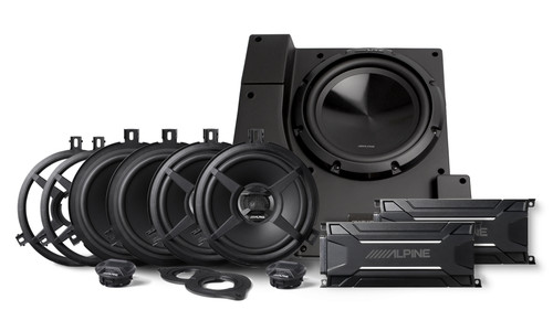 Alpine PSS-22WRA Jeep Wrangler JK Unlimited Weather Resistant Sound System Upgrade