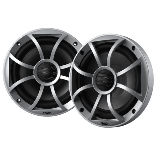 """Wet Sounds RECON 6-S Recon Series 6.5"""" 60-Watt RMS Coaxial Speakers With Silver XS Grille And Cone (Pair)"""
