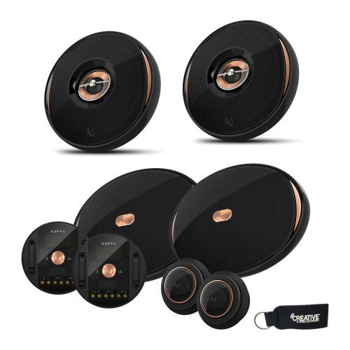 "Infinity KAPPA-90CSX 6x9"" Component Speakers + Infinity KAPPA-62IX 6.5"" Coaxial Speakers"
