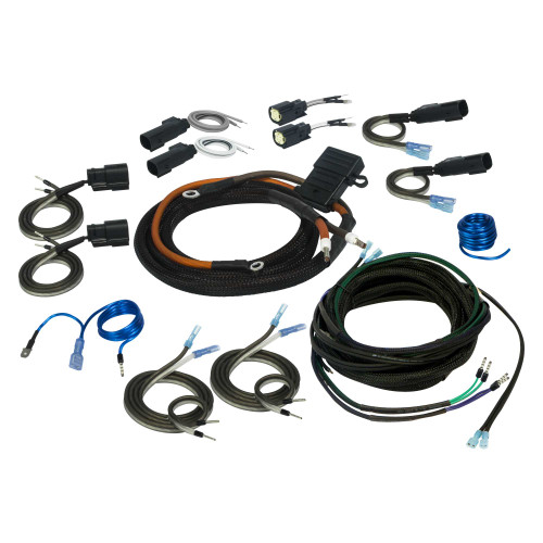 Stinger SVTK4681 2/4 Channel Universal Amplifier Wiring Kit Compatible With 1998+ Harley-Davidson Touring Motorcycles