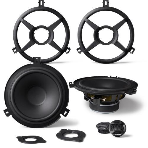 Alpine SPV-65X-WRA  2-Way Weather Resistant Speaker System for 2007-2018 Jeep® Wrangler JK
