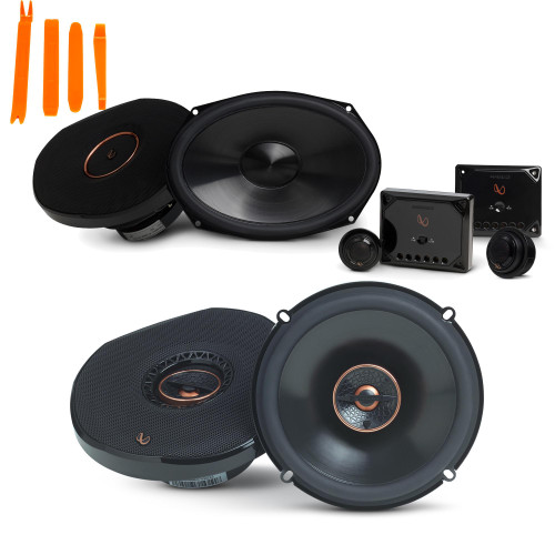 """Infinity Reference - REF-9630CX 6x9"""" 2-Way Component System, And REF-6532IX 6.5"""" 2-Way Car Audio Speakers Package"""
