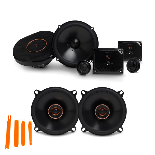 """Infinity Reference - REF-6530CX 6.5"""" 2-Way Component System, And REF-5032CFX 5.25"""" 2-Way Car Audio Speakers Package"""