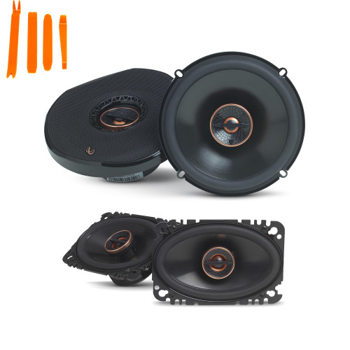 "Infinity Reference - REF-6532IX 6.5"" 2-Way Car Audio Speakers, And REF-6432CFX 4x6"" 2-Way Car Audio Speakers Package"
