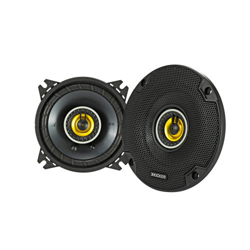 Kicker 46CSC44 CS-Series CSC4 4-Inch (100mm) Coaxial Speakers, 4-Ohm (Pair)