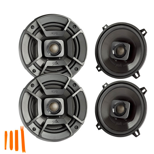 """Polk Audio - Two Pairs Of DB522 5.25"""" Coaxial Speakers - Marine and Powersports Certification"""