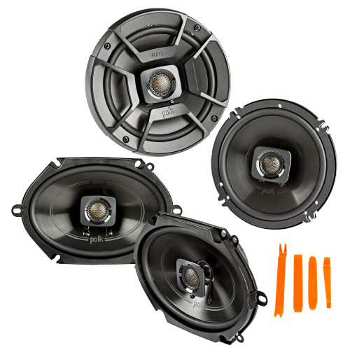 """Polk Audio - A Pair Of DB652 6.5"""" Coaxial and A Pair Of DB572 5x7"""" Speakers  - Bundle Includes 2 Pair"""