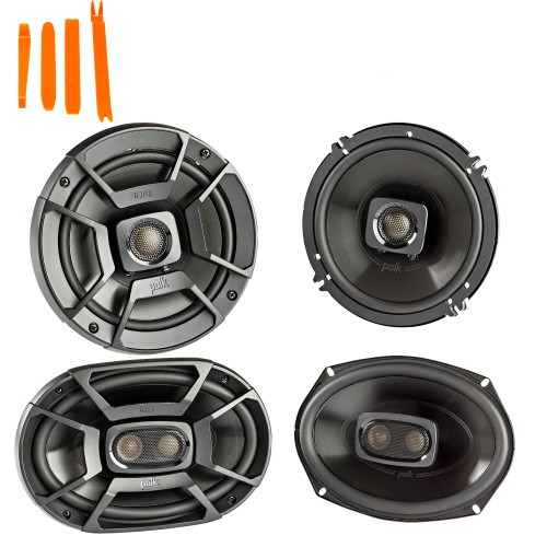 """Polk Audio - A Pair Of DB652 6.5"""" Coaxial and A Pair Of DB692 6x9"""" Speakers  - Bundle Includes 2 Pair"""