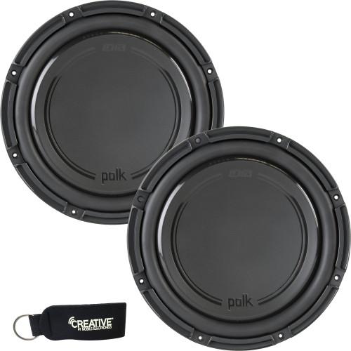 "Polk Audio -Two DB1242SVC 12"" Single 4-Ohm Voice Coil Subwoofers, Bundle - Marine Certified"