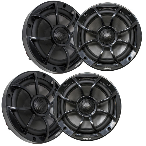 """Wet Sounds - Two Pairs Of RECON 6-BG Recon Series 6.5"""" Coaxial speakers With Black XS Grilles And Cones"""