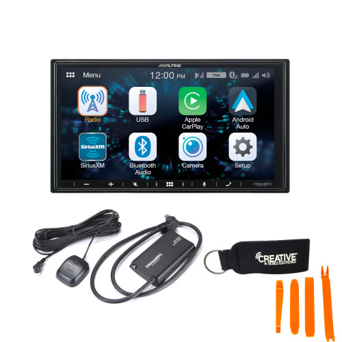 Alpine iLX-W650 Compatible with CarPlay & Android Auto - Includes SXV300V1 Sirius XM Tuner