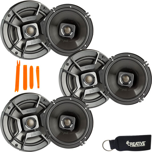 """Polk Audio - Three Pairs Of DB652 6.5"""" Coaxial Speakers - Marine and Powersports Certification"""