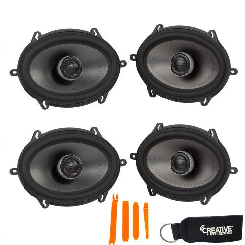 """Polk MM572 5x7"""" Coaxial Speakers Bundle Includes 2 Pair with Marine and Powersports Certification"""