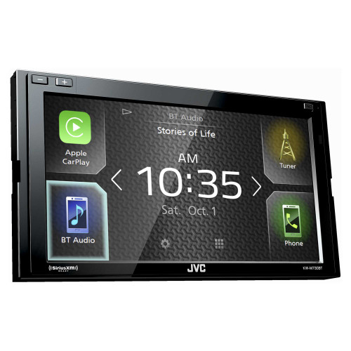 JVC KW-M730BT Compatible with CarPlay, Android Auto 2-DIN AV Receiver (No CD Drive)