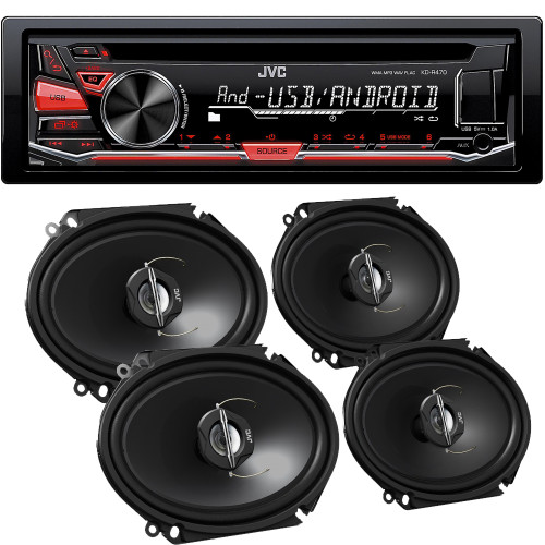 JVC KD-R470 CD with 6x8 CSJ6820 Speakers