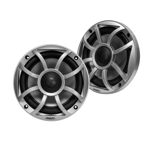 """Wet Sounds RECON 5-S Recon Series 5.25"""" 50-Watt RMS Coaxial Speakers With Silver XS Grille And Cone (Pair)"""