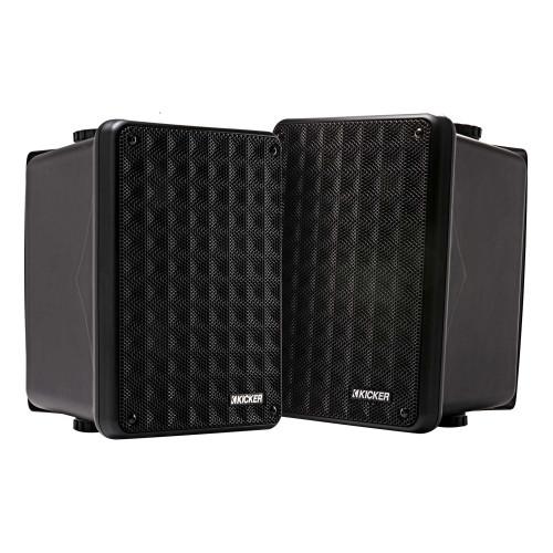 Kicker 46KB6B Black Indoor / Outdoor full-range, high-efficiency Speakers, Pair