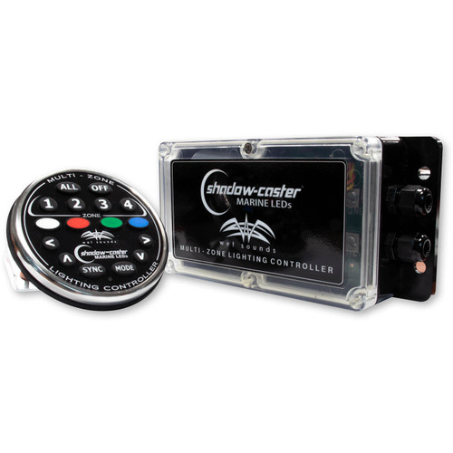 Wet Sounds WS-4Z-RGB-KIT Shadow Caster 4-Zone RGB lighting Controller and Remote