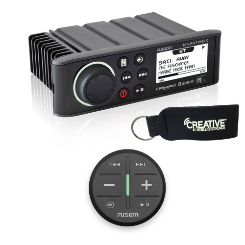 Fusion MS-RA70NSX Marine Entertainment System With Wireless Remote - Black
