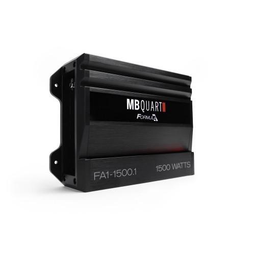MB Quart FA1-1500.1 Formula Series 1 x 500 Watts @ 4 Ohms, 1 x 1000 Watts @ 2 Ohms, 1 x 1500 Watts @ 1 Ohm